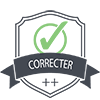 Corrector Plus Plus Badge
